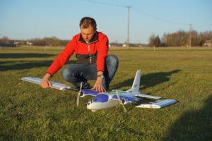 drony geodezyjne - budowa