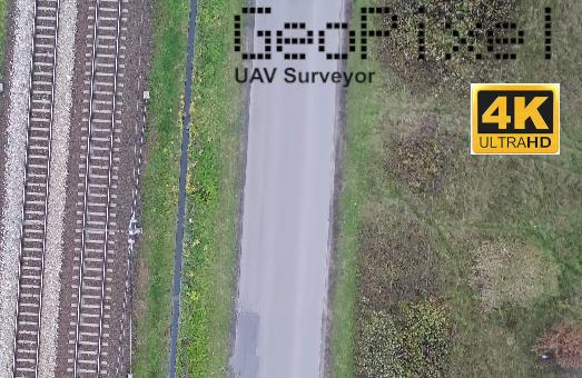 Inspekcja odcinka linii kolejowej z drona