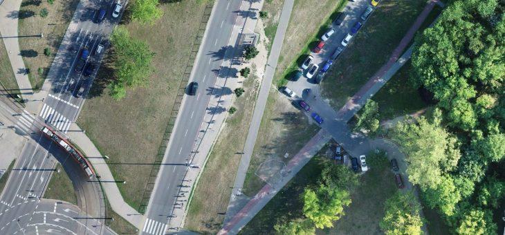 Nalot fotogrametryczny nad węzłem w Warszawie