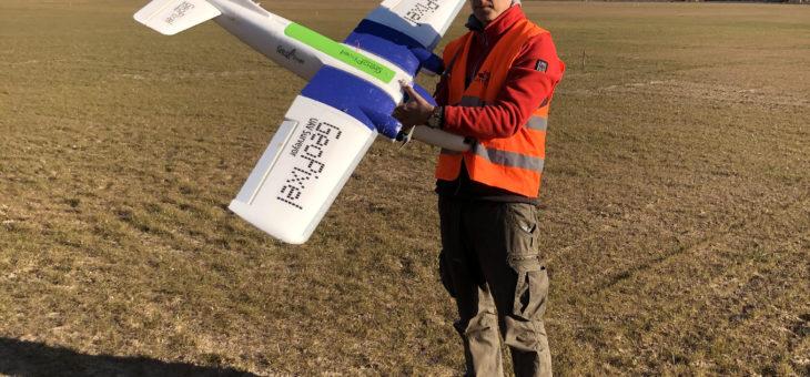 Prezentacja drona do geodezji / wiosna 2020 r. / zapraszamy